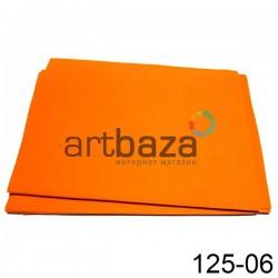 Фоамиран оранжевый (пластичная замша), толщина 0.5 мм., 21 х 30 см.