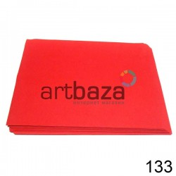 Фоамиран красный (пластичная замша), толщина 0.5 мм., 21 х 30 см.