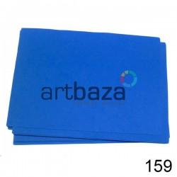 Фоамиран синий (пластичная замша), толщина 0.5 мм., 21 х 30 см.