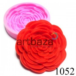 Силиконовый молд 3D (вайнер), роза, Ø5.7 см., толщина 1 см., REGINA