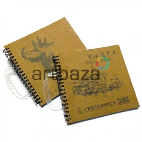 """Альбом для эскизов на спирали """"sketch book"""", 17 х 17 см., Maries"""