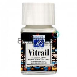 Витражная краска по стеклу и керамике, Белая, 50 мл., 004, Vitrail Lefranc&Bourgeois