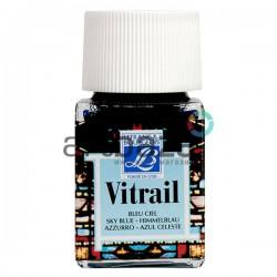 Витражная краска по стеклу и керамике, Небесная голубая, 50 мл., 028, Vitrail Lefranc&Bourgeois