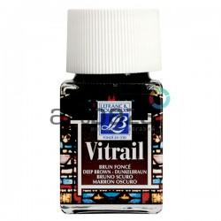 Витражная краска по стеклу и керамике, Темно-коричневая, 50 мл., 102, Vitrail Lefranc&Bourgeois