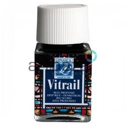 Витражная краска по стеклу и керамике, Темно-синяя, 50 мл., 465, Vitrail Lefranc&Bourgeois