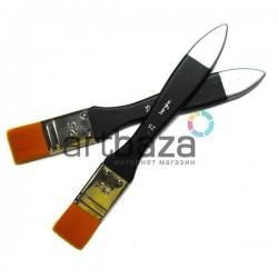 Кисть синтетическая, флейц плоская, 25 мм., Bergino