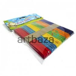Набор цветных декоративных палочек для поделок и рукоделия (плоские палочки для мороженого), Craft Sticks