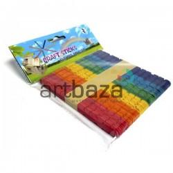 Набор цветных резных декоративных палочек для рукоделия (палочки для мороженого), 11.5 x 1 см., 50 штук, Craft Sticks
