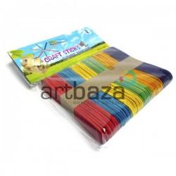Набор цветных декоративных палочек для рукоделия (палочки для мороженого), 9.5 x 1.7 см., 50 штук, Craft Stick