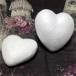 "Фигурка - заготовка из пенопласта ""Сердце"", 6.5 x 6 x 2.4 см."