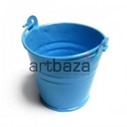 """Заготовка металлическая оцинкованная цветная """"Ведро"""", голубое, Maries"""
