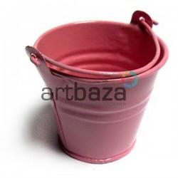 """Заготовка металлическая оцинкованная цветная """"Ведро"""", светло-розовое, Maries"""