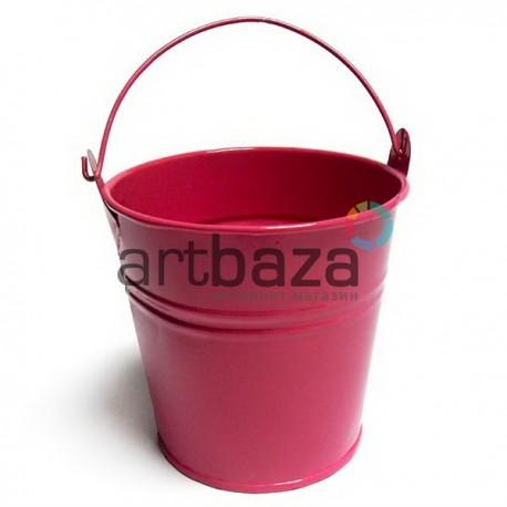 """Заготовка металлическая оцинкованная цветная """"Ведро"""", розовое, Maries"""