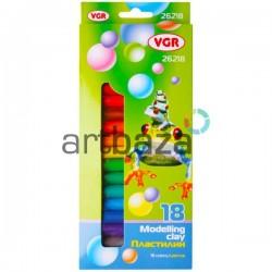 Пластилин детский 18 цветов, 300 грамм, VGR