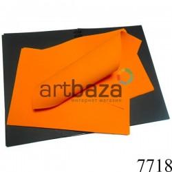 Фоамиран ярко-оранжевый (пластичная замша), толщина 1 мм., 20 x 30 см.