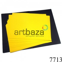 Фоамиран желтый (пластичная замша), толщина 1 мм., 20 x 30 см.