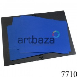 Фоамиран синий (пластичная замша), толщина 1 мм., 20 x 30 см.