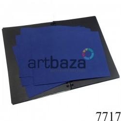Фоамиран темно-синий (пластичная замша), толщина 1 мм., 20 x 30 см.