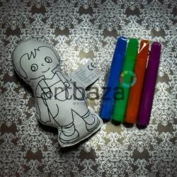 """Игрушка - раскраска """"Мальчик"""" моющаяся + набор фломастеров 4 цвета, 13 x 6 см., Enjoy"""
