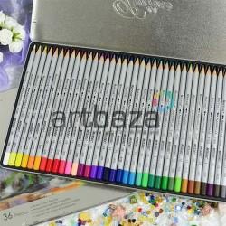 Карандаши акварельные, 36 цветов, шестигранные, в металлическом пенале, Marco Raffine