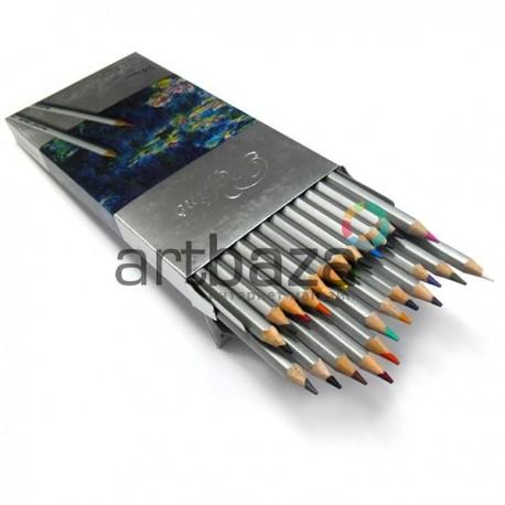 Карандаши цветные, шестигранные, 24 шт., Marco Raffine
