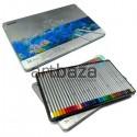 Карандаши цветные, шестигранные, 36 шт., в металлическом пенале, Marco Raffine