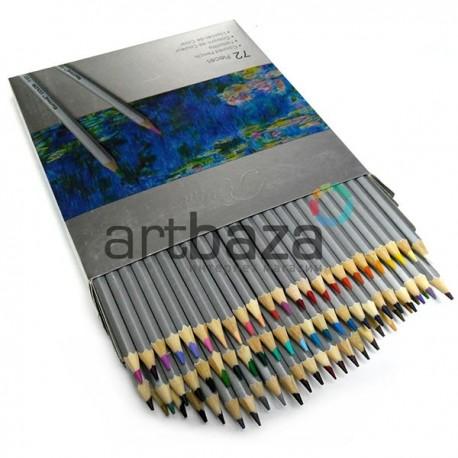 Художественные цветные карандаши, шестигранные, 72 цвета, Marco Raffine | 7100-72CB | 6951572903418