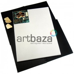 Холст грунтованый на подрамнике, р-р: 50x60 см., лён, 350 гр/м2