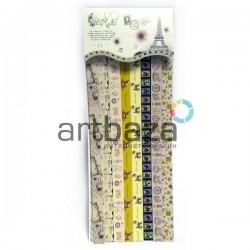 """Набор цветных бумажных полосок для оригами и открыток """"Paris"""" BLUE DRAGONFLY"""