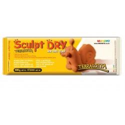 Самозатвердевающая глина (пластика, масса) для моделирования MUNGYO Sculpt Dry, 500 гр., терракотовая для лепки кукол