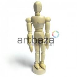 """Деревянный подвижный манекен человека, мужской, 4.5"""" (11.4 см.), Maries"""