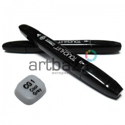 "Маркер - копик TouchLiit Twin Marker ""Black series"", CG1 cool grey, Maieart Art"