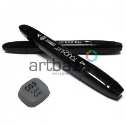 "Маркер - копик TouchLiit Twin Marker ""Black series"", CG3 cool grey, Maieart Art"