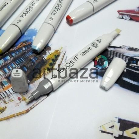 Маркер-копик TouchLiit Twin Marker, 0 colorles blender, Maieart Art