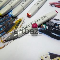 Маркер-копик TouchLiit Twin Marker, R3 rose red, Maieart Art