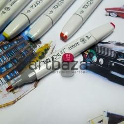 Маркер-копик TouchLiit Twin Marker, R4 vivid red, Maieart Art