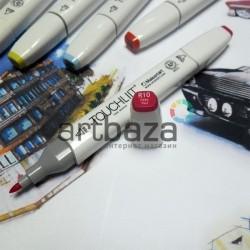 Маркер-копик TouchLiit Twin Marker, R10 deep red, Maieart Art