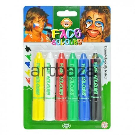 Набор красок для лица Make Up, 6 цветов, Koh-i-Noor