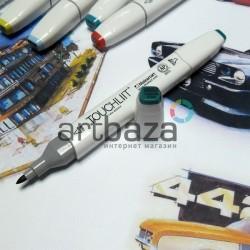 Маркер-копик TouchLiit Twin Marker, BG53 turquoise green, Maieart Art