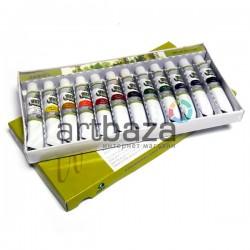 Набор художественных акварельных красок, 12 цветов по 12 мл., Maries