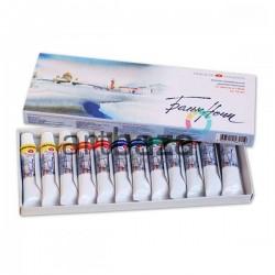Набор профессиональных акварельных красок в тубах, 12 цветов по 10 мл., в картонной коробке, Белые Ночи • 19411227