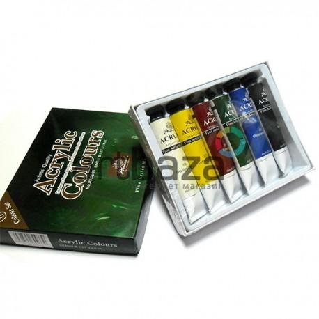 Набор художественных акриловых красок, 6 цветов по 45 мл., Phoenix | Акриловые краски для рисования купить в Украине