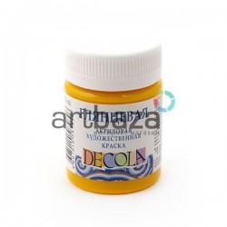 Краски глянцевые акриловые, желтая темная, 50 мл., Decola