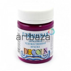 Краски глянцевые акриловые, розовая темная, 50 мл., Decola