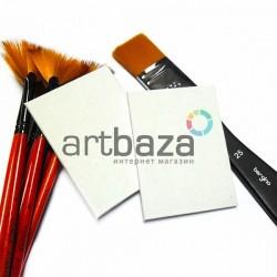 Холст мелкозернистый грунтованный на картоне, р-р: 3х5 см., REGINA