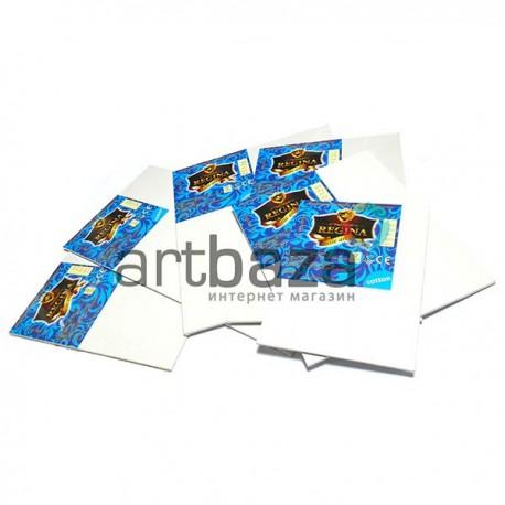 Холст мелкозернистый грунтованный на картоне, р-р: 20х30 см., REGINA