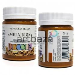 Краска акриловая металлик, золото ацтеков, 50 мл., Decola