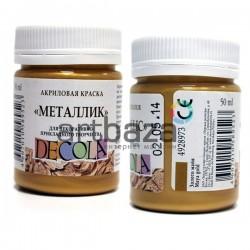 Краска акриловая металлик, золото майя, 50 мл., Decola