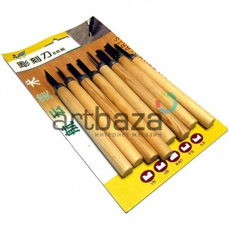Набор резцов (стамесок) для работы по дереву, 8 штук, Hangyun Beaux-Art
