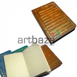 """Блокнот """"Soundtrack"""" коричневый, 90 х 130 мм., 96 листов, YASAC"""
